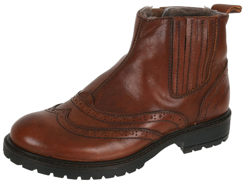 Momino 1001m Scarpe Chelsea Boots Stivali Budapester Pelle Agnello 33-40 NUOVO