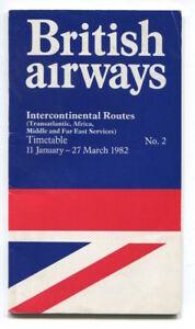BRITISH AIRWAYS INTERCONTINENTAL TIMETABLE WINTER 198182 NO2 JANUARY ISSUE BA - London, London, United Kingdom - BRITISH AIRWAYS INTERCONTINENTAL TIMETABLE WINTER 198182 NO2 JANUARY ISSUE BA - London, London, United Kingdom