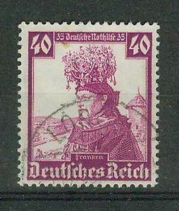 Deutsches-Reich-Briefmarken-1935-Nothilfe-Trachten-Mi-Nr-597