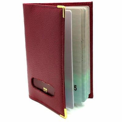 Etui pochette protège passeport couleur ROUGE en Cuir véritable Homme Femme