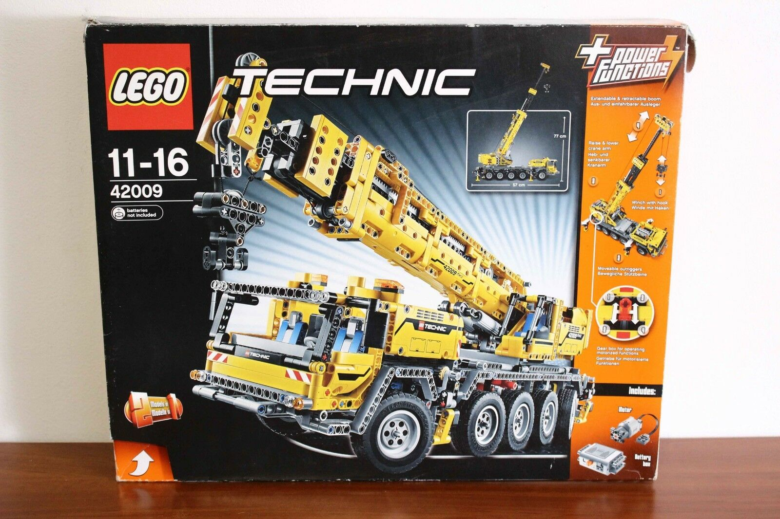 Lego Technic  Model Construction Set 42009-1 Mobile Crane Mk II 100% cmpl. + box  grandes marques vendent pas cher
