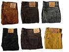 Mens ex LEE Regular Fit Cords Corduroy Trousers Jeans 100% Cotton 10 Colours