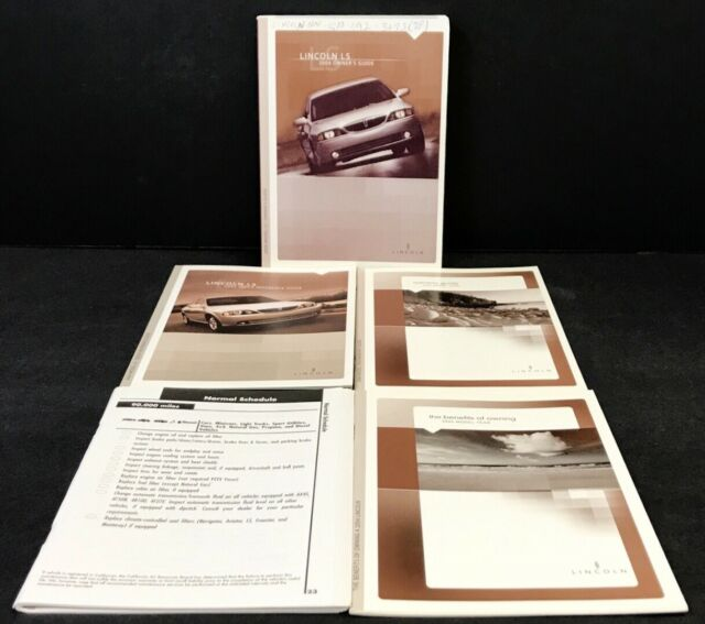 2004 Lincoln Ls Owners Manual Guide Handbook With Case