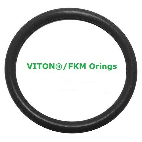 Viton Heat Resistant Black O-rings  Size 007 Price for 50 pcs