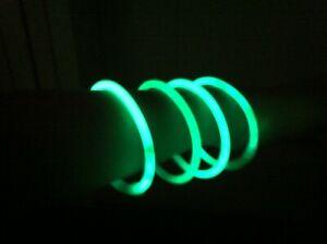 1000pz-Braccialetti-Luminosi-StarLight-fluorescenti-Monocolore-VERDI-VERDE