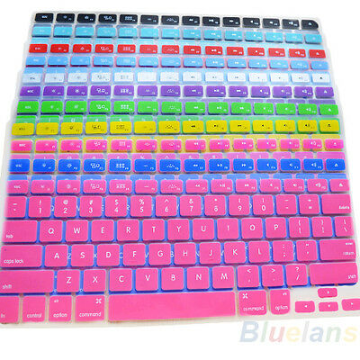Silicone Keyboard Skin for Apple Macbook Pro MAC 13 15 17 Air 13 11 Colors BA8A