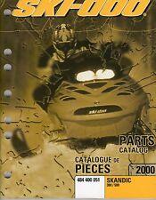 2000 SKI-DOO SKANDIC 380 & 500 PARTS MANUAL P/N 484 400 051  (405)