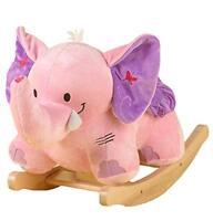 Rockabye Bella The Pink Elephant Rocker, New, Free Shipping