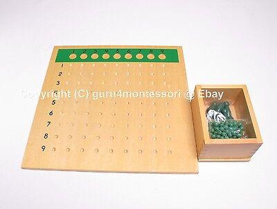 NEW Montessori Mathematics - Bead Board Package  - Multiplication & Division