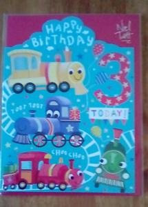 3rd birthday card 16.5cm x 12.5cm