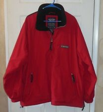 MEN'S ABERCROMBIE & FITCH ZIPPER RED & NAVY BLUE PULLOVER JACKET SZ LARGE NICE!