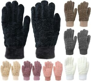 Womens-Chenille-Thick-Winter-Gloves