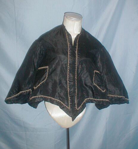 Antique Dress Jacket Victorian 1860's Beaded Black