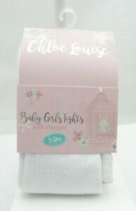 Soft Touch collant Jacquard blanc torsadé ou losange  bébé 0 à 12 mois
