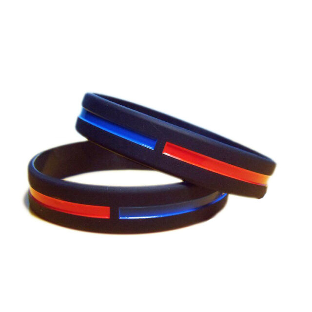 Thin Blue Line Wristbands 20 TBL Bracelets 20 Piece Silicone WristbandsTBL Cops