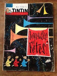 JOURNAL-TINTIN-792-France-1963-dossier-auto-concorde-avec-cheque-tintin