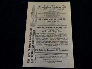 Vintage 1956 New England Railroad Club Official Proceedings  Diesel Engine R54