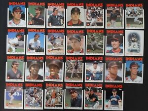 1986-Topps-Cleveland-Indians-Team-Set-of-27-Baseball-Cards