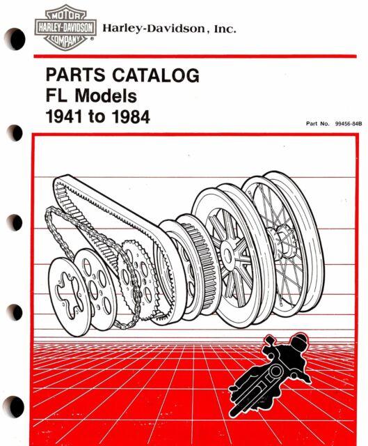 Harley Davidson Parts Catalog FL Models 1941 to 1984