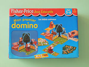 Original #53586 Vintage Fisher-price Mon Premier Domino - Jeu Educatif - 1998 - Complet