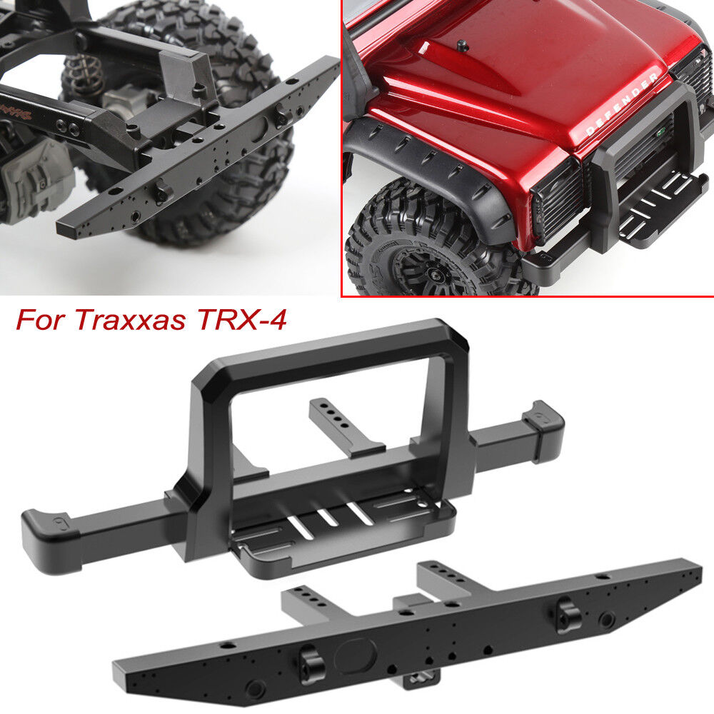 Alloy CNC Front & Rear Bumper Winch Mount For Traxxas TRx-4 1 10 RC Crawler Cars