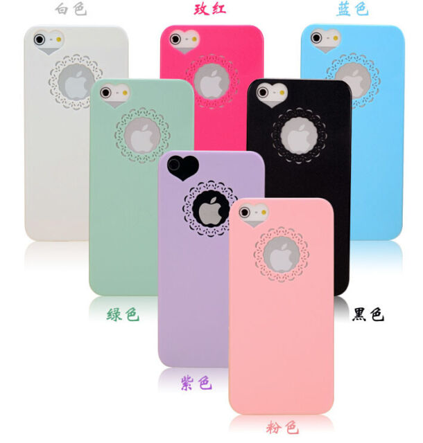 Plastic Cute Sweet Peach Heart Protection Phone Case Cover Skin for iPhone 6 5 4