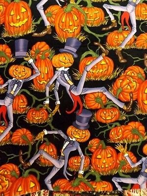 Halloween fabric Alexander Henry Mr Pumpkin's Patch cotton