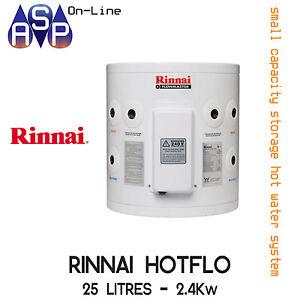RINNAI-HOTFLO-ELECTRIC-HOT-WATER-STORAGE-25L-2-4Kw-PLUG-IN