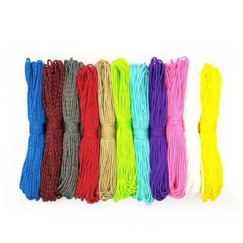 Details about  /2mm Stand Cores Paracord Rope Hiking Clothesline Lanyard Camping Climbing 100FT