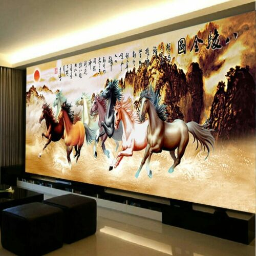 Eight Horses Win Instant Success Cross Stitch Diamond Mosaic Diamond Painting