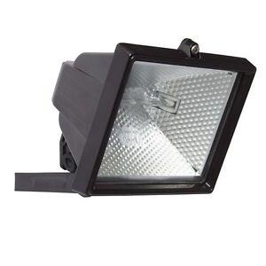 120W Black Halogen Floodlight-Exterior Garden Security Light