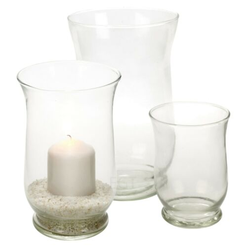 Hurricane Glass Votive Candle Holder Pillar Tea Light Lantern Vase Centrepiece