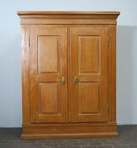 antiker xl bauernschrank weichholz schrank kleiderschrank garderobe spind 1860 ebay. Black Bedroom Furniture Sets. Home Design Ideas