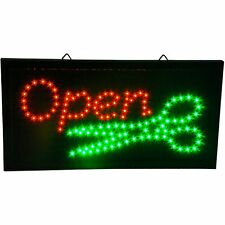 Hair Cut Beauty Salon Stylist Barber Shop open animated LED business Sign neon