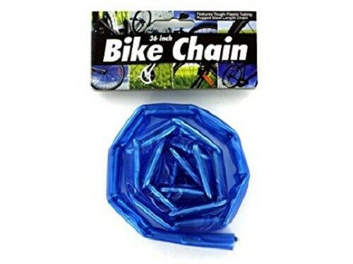 "36/"" Inch Metal Plastic Coated Bike Chain"
