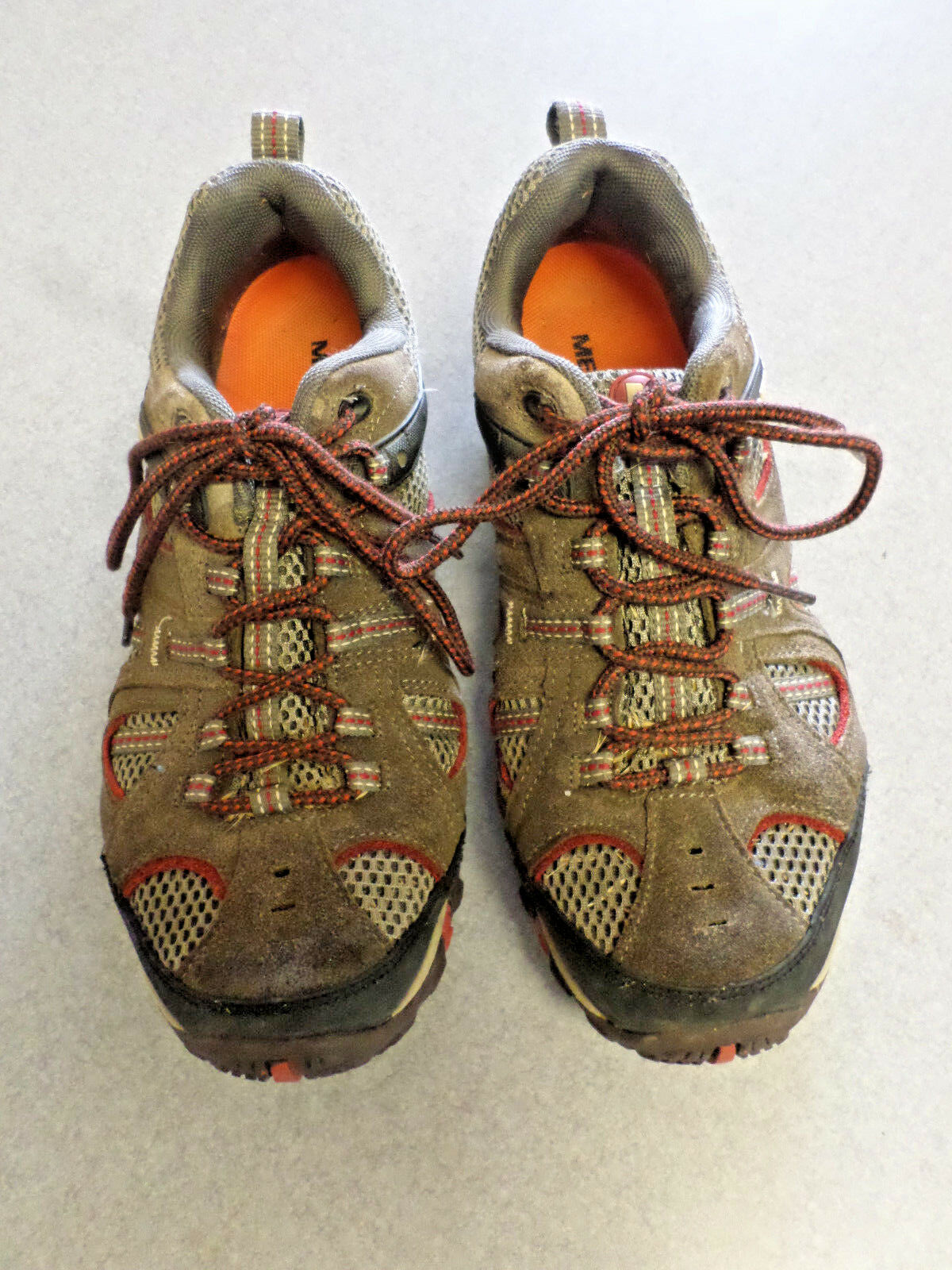 Merrell  Bungee Cord  brown suede and mesh, hiking shoes. Men's 9.5 (eur 43.5)