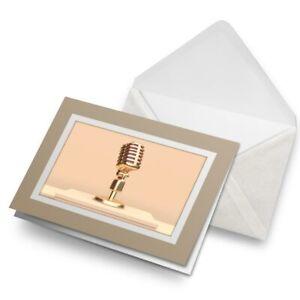 Greetings-Card-Biege-Microphone-Radio-Broadcast-16319