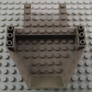 Lego Airplane Middle Cabin Base Light Stone Gray 7894 Cockpit Spaceship