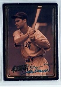 Bobby Doerr 1992 Action Packed autographed auto signed card Red Sox