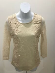 Sunday-In-Brooklyn-Anthropologie-Ivory-Lace-Long-Sleeve-Blouse-XSmall
