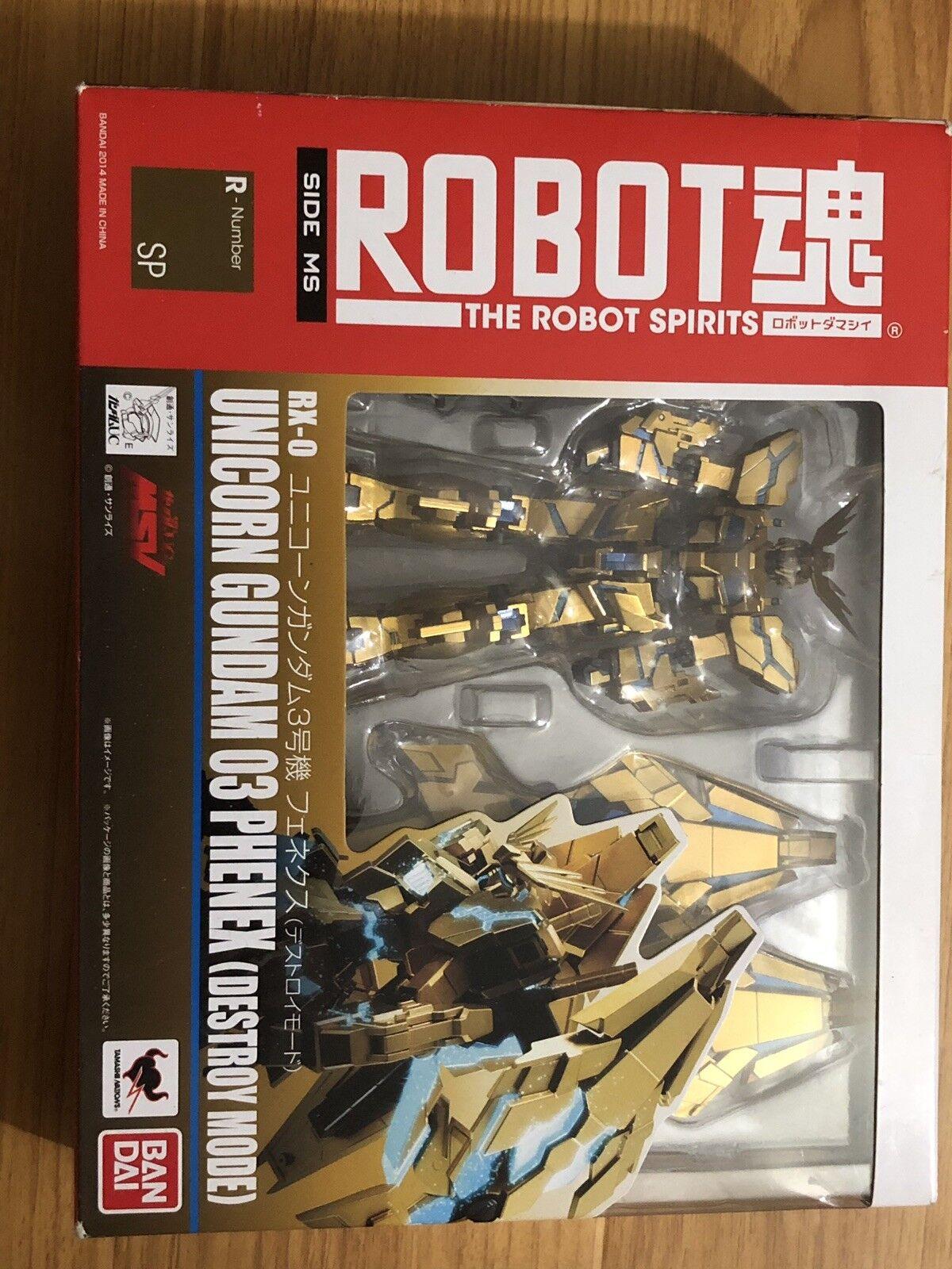 Bandai Gundam Unicornio Robot Spirits unidad 03 Phenex destruir modo Figura De Acción