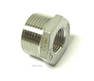"2-1/2"" X 1"" 150# Cast Threaded (NPT) Hex Bushing 304 Stainless Steel <SS12100641"