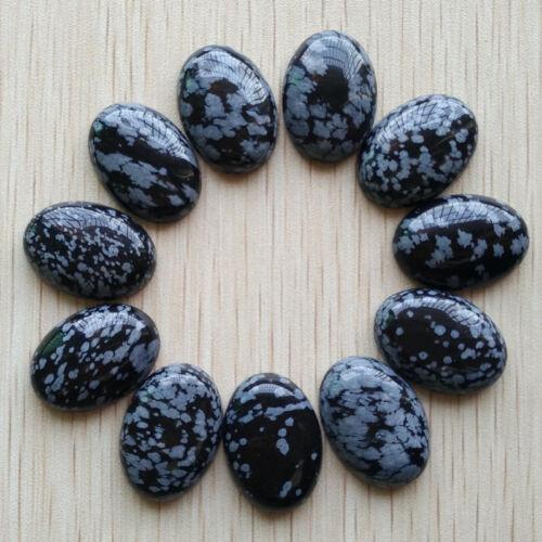 18x25mm natural gemstone Cabochons12pcs17 Types ou mixtes Pack
