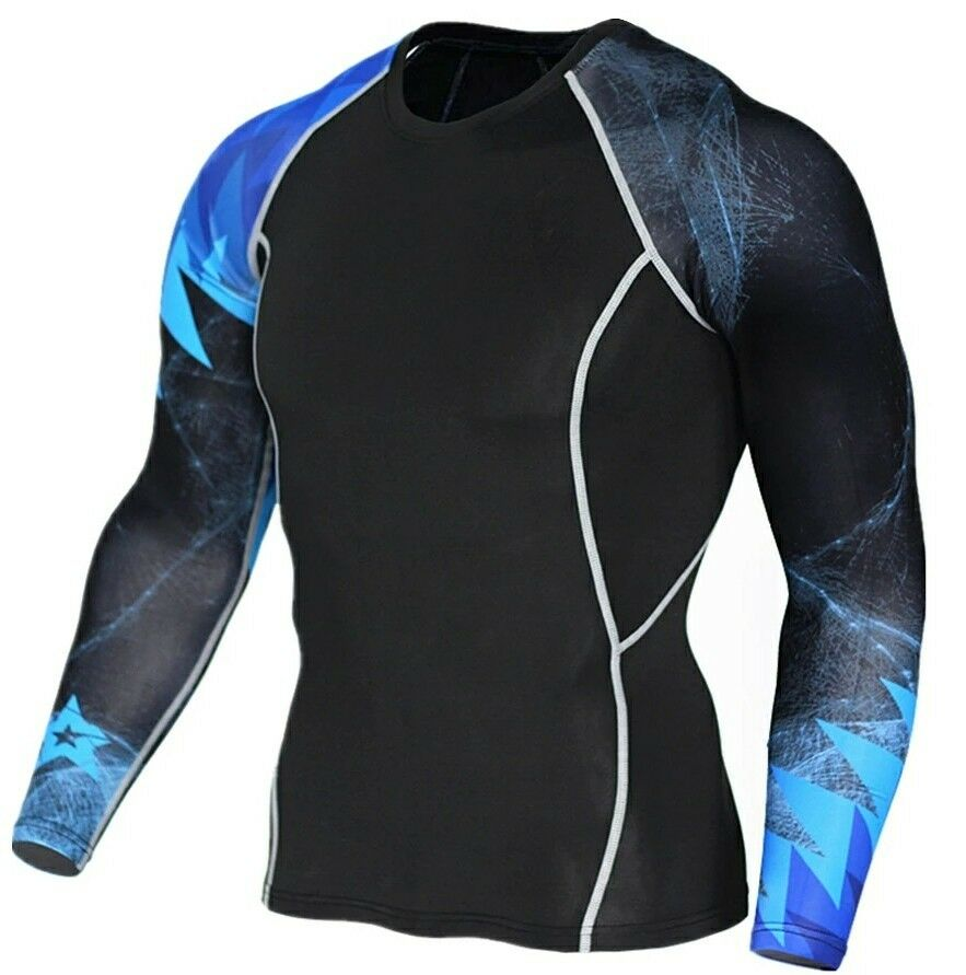 Bjj rash guard jiu jitsu mma base layer compression gym tshirt medium