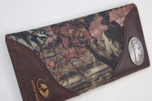 ZEP-PRO Ole Miss Rebels Leather /& Nylon MOSSY OAK Camo Wallet BURLAP GIFT BAG