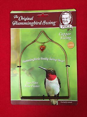 Pop S Copper Hummingbird Swing With Heart Jewel Ebay