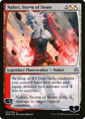 MTG Magic Card Nahiri Storm of Stone WAR Uncommon Planeswalker #233 Mint