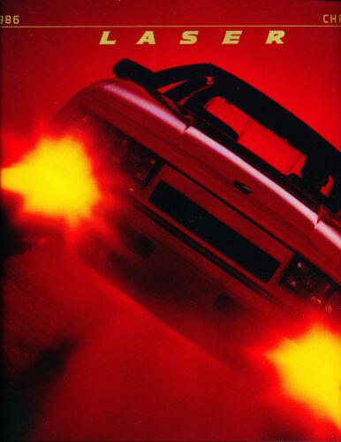1986 Chrysler Laser 20-page Original Car Sales Brochure Catalog XE Turbo