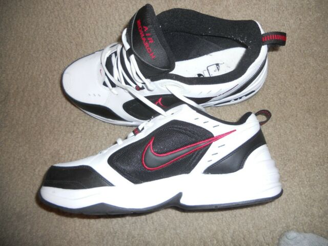 Nike AIR MONARCH Mens White Black Red Lace Up Running Shoessize 13 used once