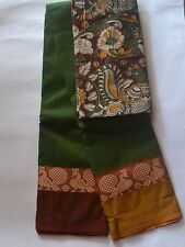 South Cotton pure handloom saree Ganga Jamuna Peacock border